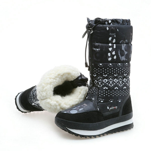 Women Snow Boots Winter Boots Platform Thick Plush Warm Non-Slip Waterproof  Winter Shoes