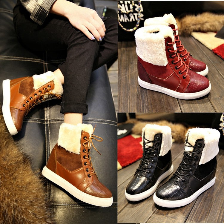 Fashion Winter Snow Boots For Women Fur Shoes Ankle Boots - Style Lavish
