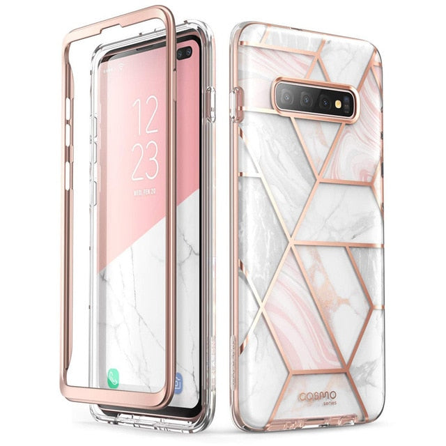 For Samsung Galaxy S10 Plus Case 6.4 inch i-Blason Cosmo Full-Body Glitter Marble Cover Case WITHOUT Built-in Screen Protector