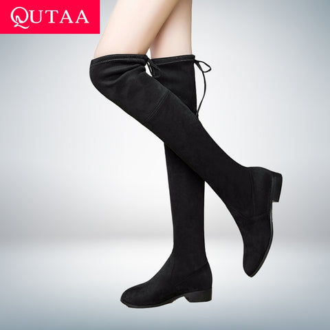 85b8582bcfd Women Shoes Boots Over the Knee Boots Sexy Autumn Winter lady Thigh Hi