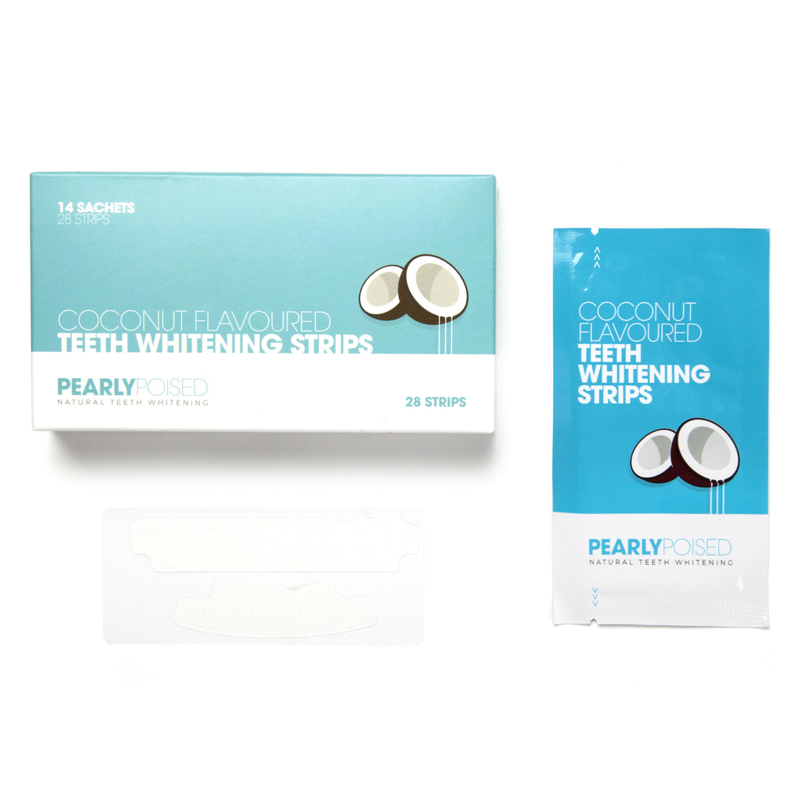 1 Pack of Teeth Whitening Strips - Coconut Flavoured