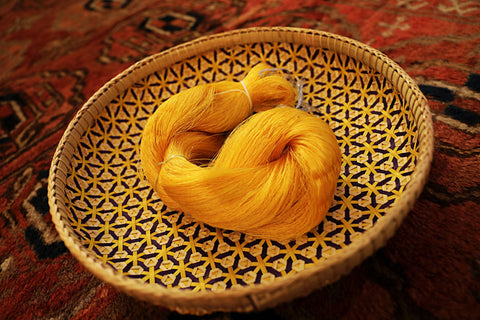 Cambodian golden silk, native to Cambodia and used by KBEN & HOL