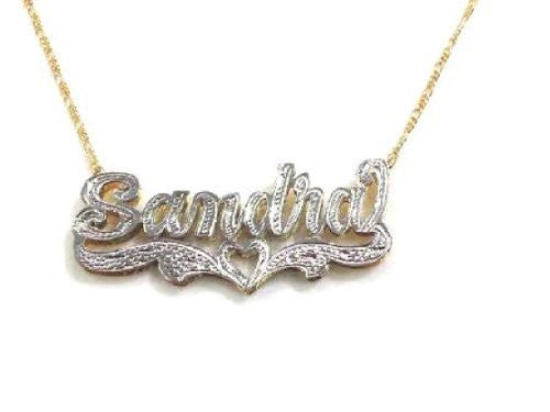 Personalized 14k Gold Overlay Double Name Necklace /c2/  Jewelry Woxpa  Woxpa - Jewelry - Woxpa - Jewelry