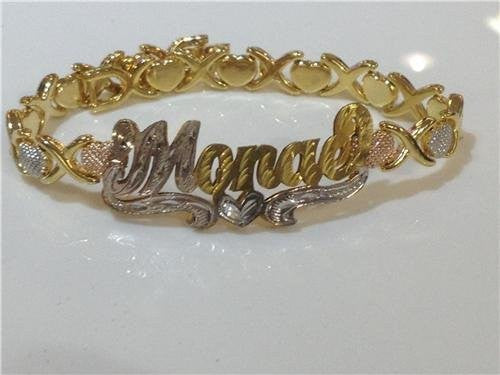 Personalized 14k Gold Plated Name Bracelet /d26/  Jewelry Woxpa  Woxpa - Jewelry - Woxpa - Jewelry