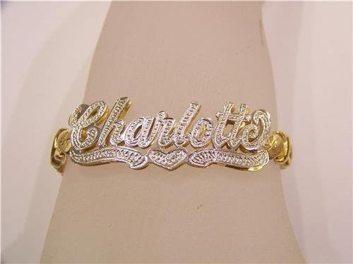 Personalized 14k Gold Plated Name Bracelet /d6/  Jewelry Woxpa  Woxpa - Jewelry - Woxpa - Jewelry