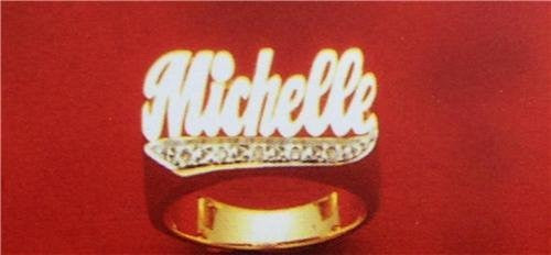 14k Gold Overlay Personalized Name Ring /a10/  Jewelry Woxpa  Woxpa - Jewelry - Woxpa - Jewelry