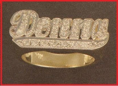 14k Gold Overlay Personalized Name Ring /a12/  Jewelry Woxpa  Woxpa - Jewelry - Woxpa - Jewelry