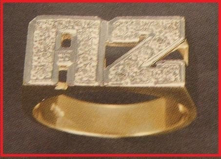 14k Gold Overlay Personalized Name Ring /a13/  Jewelry Woxpa  Woxpa - Jewelry - Woxpa - Jewelry