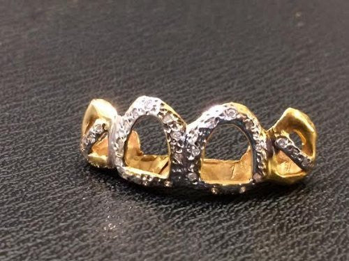 Customized 10k Gold Removable Gold Teeth / Caps / Grillz 4 Teeth /h24/  Jewelry Woxpa  Woxpa - Jewelry - Woxpa - Jewelry