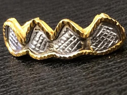 Customized 10k Gold Removable Gold Teeth / Caps / Grillz 4 Teeth /h25/  Jewelry Woxpa  Woxpa - Jewelry - Woxpa - Jewelry