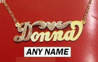 14k Gold Overlay Personalized Any Name Necklace /b16/  Jewelry Woxpa  Woxpa - Jewelry - Woxpa - Jewelry