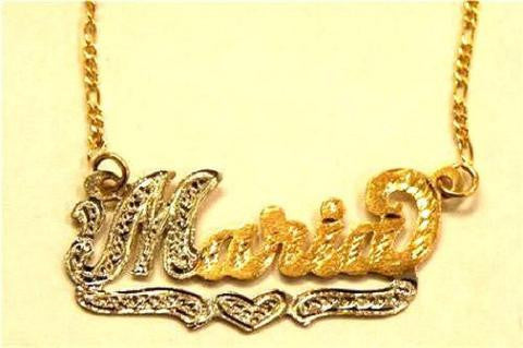 14k Gold Overlay Personalized Two Name Necklace /b25/  Jewelry Woxpa  Woxpa - Jewelry - Woxpa - Jewelry