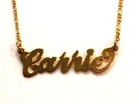 18k Gold Overlay Personalized Any Name Necklace /b33/  Jewelry Woxpa  Woxpa - Jewelry - Woxpa - Jewelry