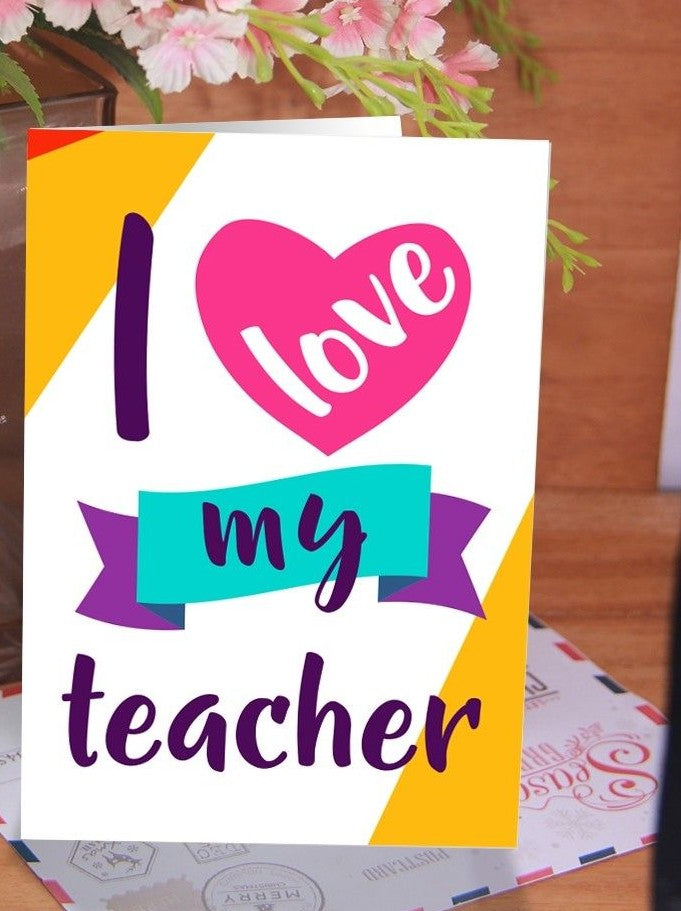 Teacher's Day Customized Card ( PRINT MESSAGE & PICTURE ) - Dr Bake Pakistan Send gifts to Lahore, Karachi, Islamabad, Pakistan
