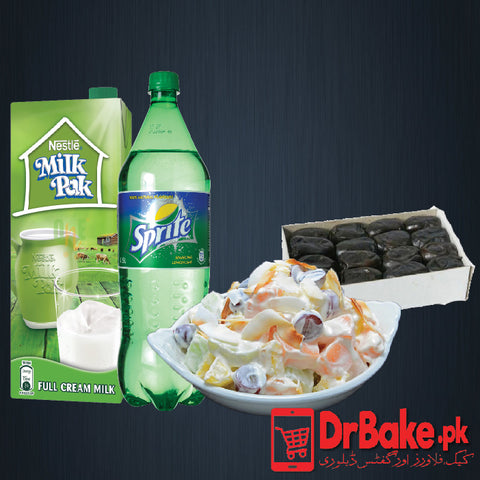 Send Khajoor with Doodh Soda and Fruit Chat to Pakistan | DrBake.pk