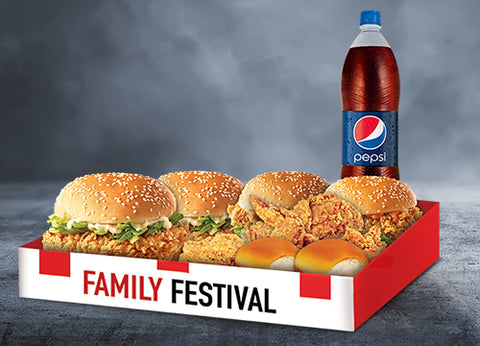 KFC's Family Festival - DrBake.pk Send gifts to Lahore, Send gifts to Karachi, Send gifts to Islamabad, Send gifts to Rawalpindi