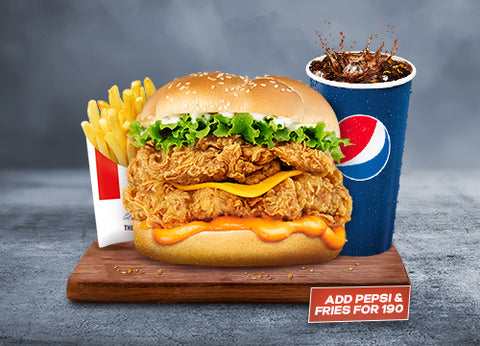 KFC's Mighty Zinger Combo - Dr Bake Pakistan Send gifts to Lahore, Karachi, Islamabad, Pakistan
