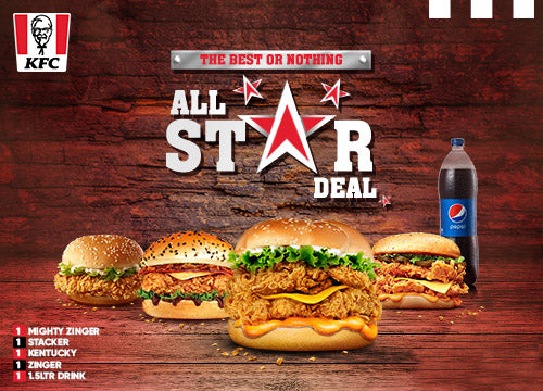 KFC's All Star Deal - Dr Bake Pakistan Send gifts to Lahore, Karachi, Islamabad, Pakistan
