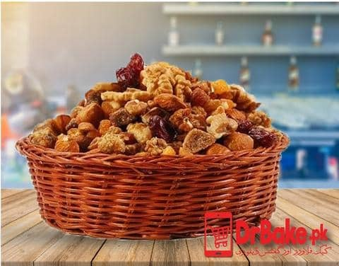 1kg Mix Dry Fruit Basket - Dr Bake Pakistan Send gifts to Lahore, Karachi, Islamabad, Pakistan