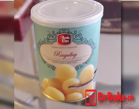 Send 1kg Rasgullay Tin Box To Pakistan | DrBake.pk