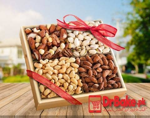 Send 2kg Mix Dry Fruits Tray To Pakistan-DrBake.pk