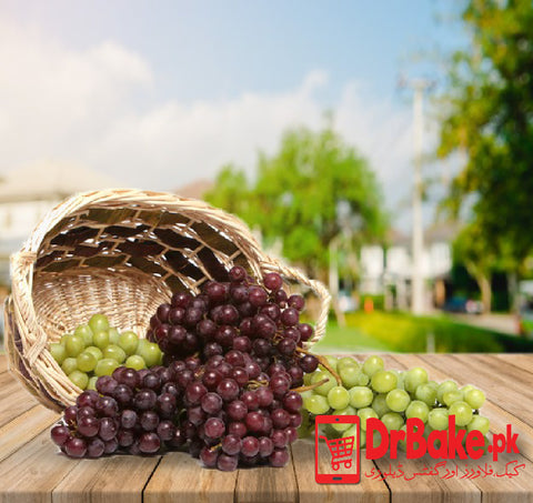 3 Kg Mix Grapes Basket - Dr Bake Pakistan Send gifts to Lahore, Karachi, Islamabad, Pakistan
