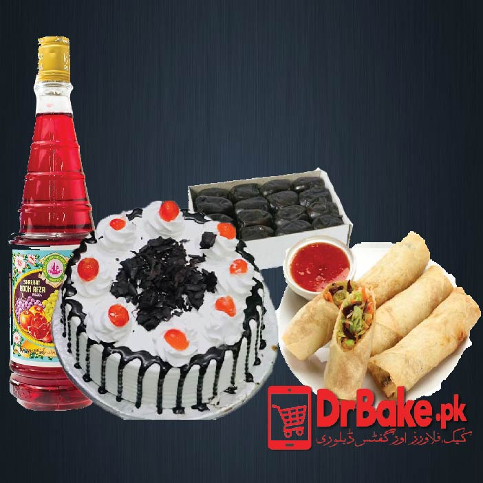 Send Black Forest Cake with Rooh Afza and Khajoor to Pakistan | DrBake…