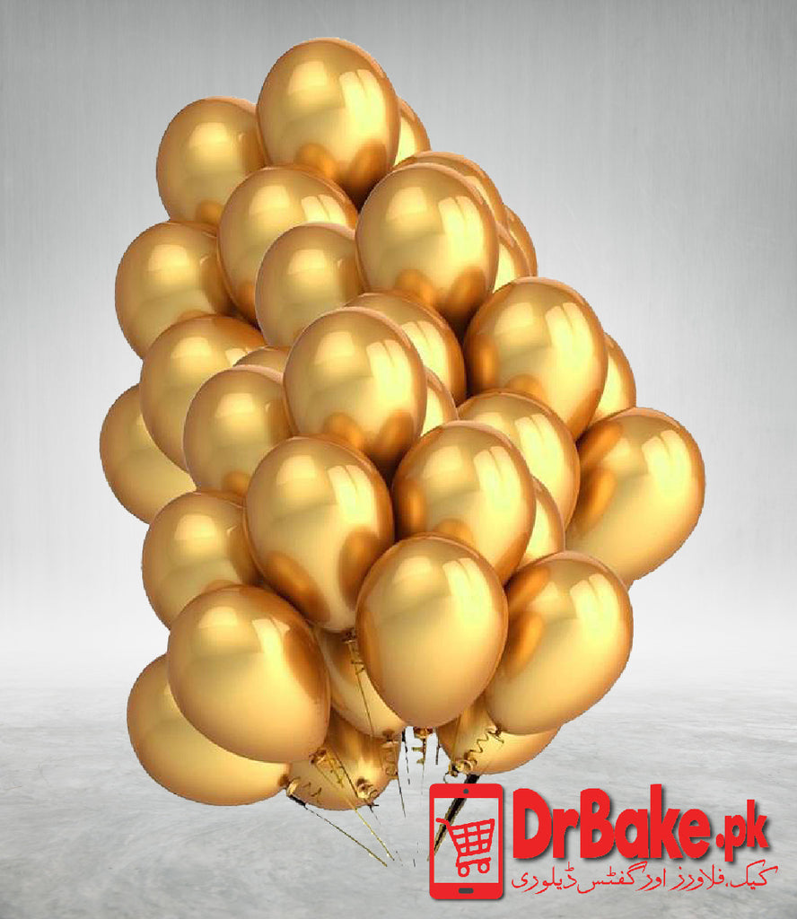 50 Golden Balloons (Only For Lahore) - Dr Bake Pakistan Send gifts to Lahore, Karachi, Islamabad, Pakistan