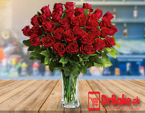 Send Flowers in Vase to Pakistan with DrBake.pk
