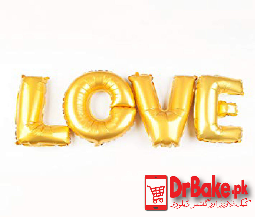 Love - Words Balloons (Only For Lahore) - Dr Bake Pakistan Send gifts to Lahore, Karachi, Islamabad, Pakistan