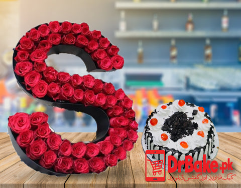 Alphabet Roses Arrangement Deal (Only For Lahore) - Dr Bake Pakistan Send gifts to Lahore, Karachi, Islamabad, Pakistan