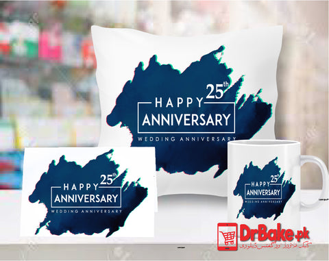 Anniversary Customize Cushion, Mug & Card Combo