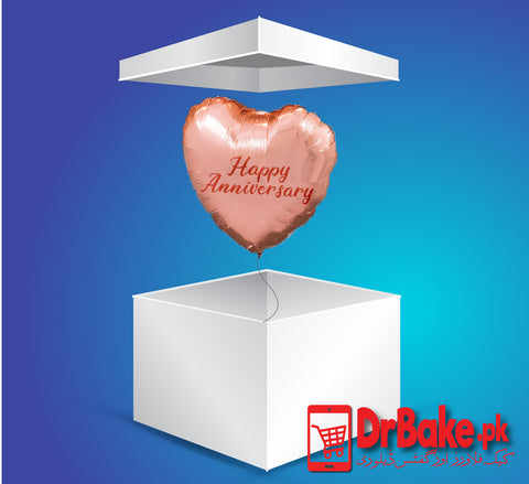 Surprise Anniversary Balloon Box - Dr Bake Pakistan Send gifts to Lahore, Karachi, Islamabad, Pakistan