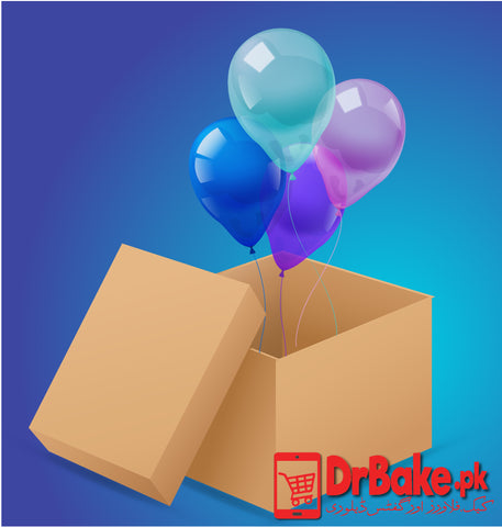 Simple Surprise Balloon Box(4 Balloons) - DrBake.pk Send gifts to Lahore, Send gifts to Karachi, Send gifts to Islamabad, Send gifts to Rawalpindi