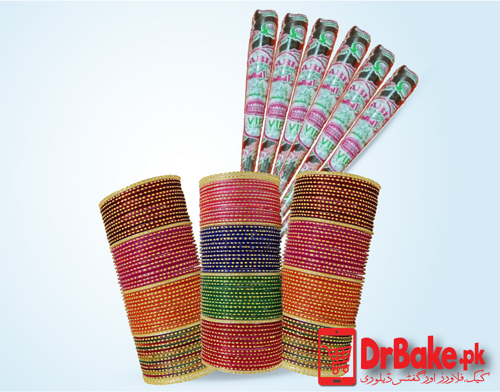 Bangles with Cone Mehndi - Dr Bake Pakistan Send gifts to Lahore, Karachi, Islamabad, Pakistan