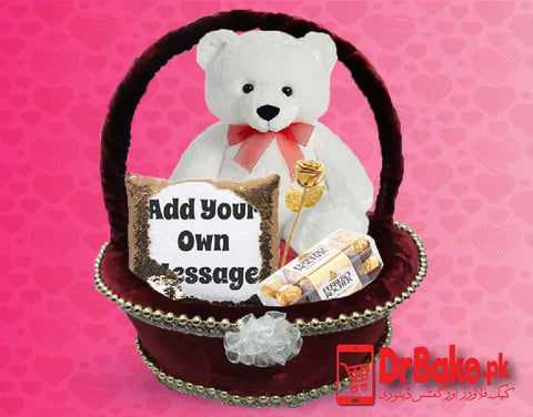 Valentine's Basket - Valentine's Day Special (Only For Lahore) - Dr Bake Pakistan Send gifts to Lahore, Karachi, Islamabad, Pakistan