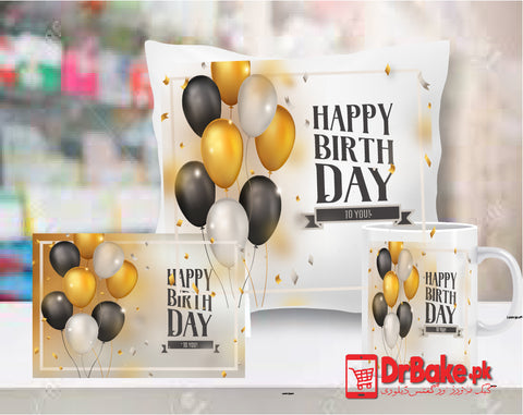 Birthday Customize Cushion, Mug & Card Combo