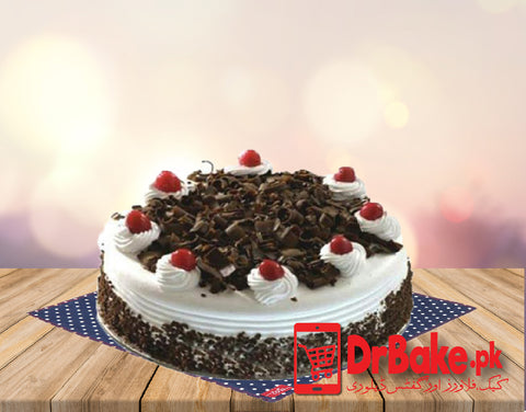 Send Black Forest Cake To Karachi of Ideal Bakery 1lb | DrBake.pk