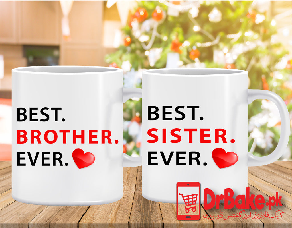 Send Brother and Sister Customized Mug to Pakistan with DrBake.pk