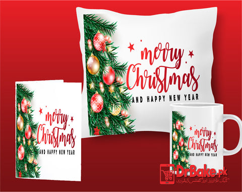 Christmas Customize Cushion, Mug & Card Combo