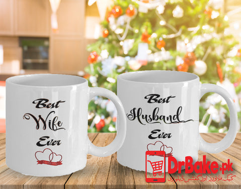 Husband & Wife Customized Mug - Dr Bake Pakistan Send gifts to Lahore, Karachi, Islamabad, Pakistan