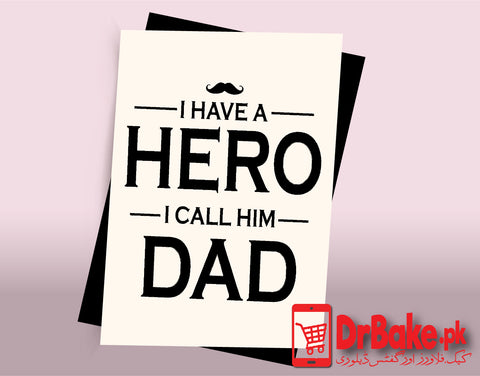 Card For Father (Customized) - Dr Bake Pakistan Send gifts to Lahore, Karachi, Islamabad, Pakistan