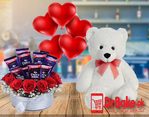 Dairy Milk Flower Box Deal - Dr Bake Pakistan Send gifts to Lahore, Karachi, Islamabad, Pakistan