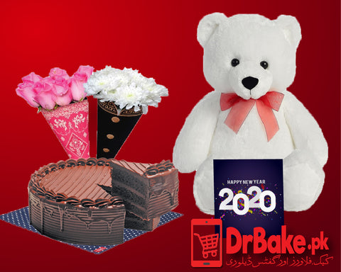 Send Mr and Mrs Flower Deal to Pakistan with DrBake.pk