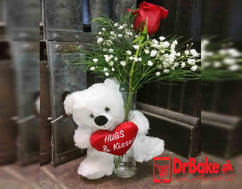Love Teddy Bear - Valentine's Day Special - Dr Bake Pakistan Send gifts to Lahore, Karachi, Islamabad, Pakistan