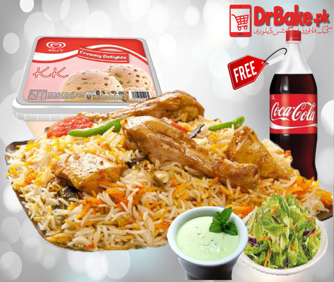 Biryani & Ice Cream Deal For 4 People - Dr Bake Pakistan Send gifts to Lahore, Karachi, Islamabad, Pakistan