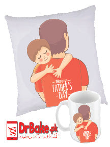 Father's Day Customized Cushion & Mug - Dr Bake Pakistan Send gifts to Lahore, Karachi, Islamabad, Pakistan