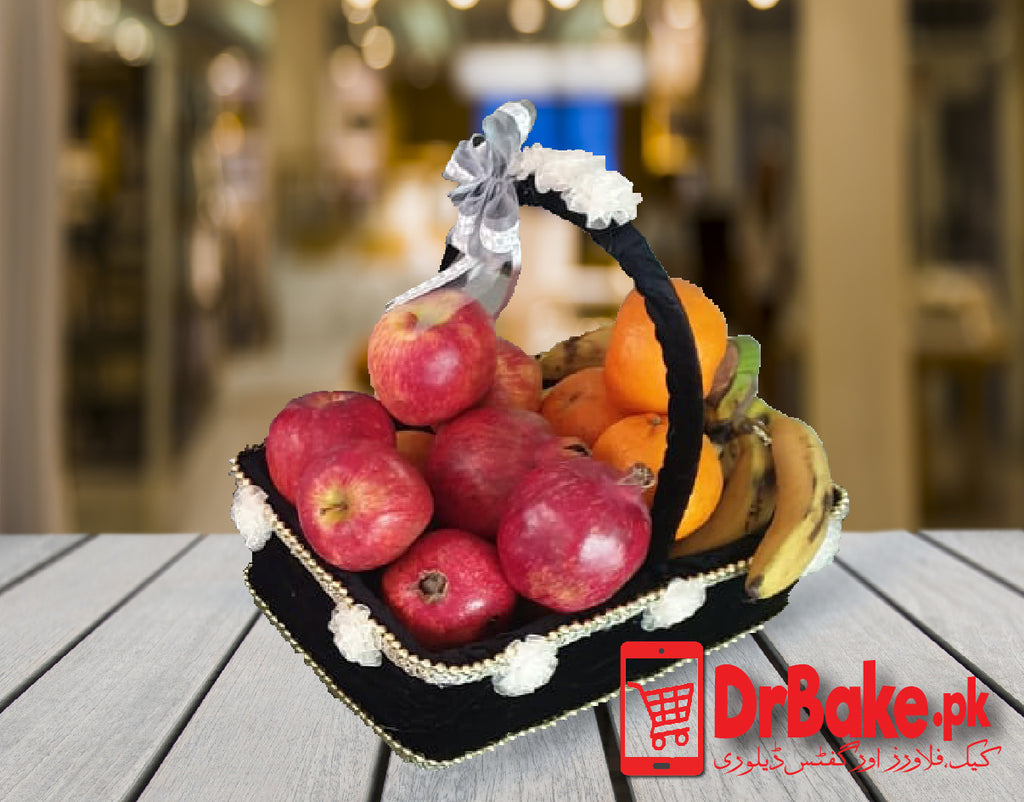 Send 4 Kg Mixed Fruit Basket To Pakistan | DrBake.pk