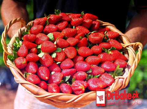 5 Kg Strawberry Basket - Dr Bake Pakistan Send gifts to Lahore, Karachi, Islamabad, Pakistan