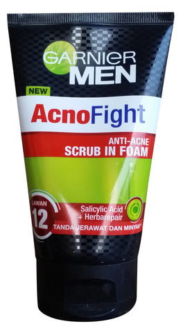 Garnier Men AcnoFight Anti-Acne Scrub in Foam 100ml  For Men